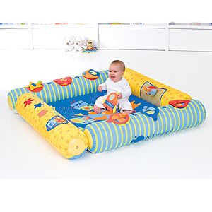 could do this with pool noodles for very little baby
