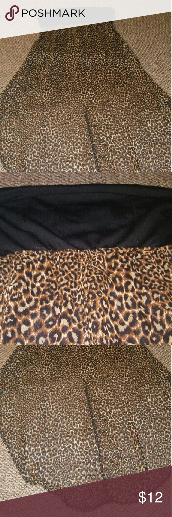 Cheetah hi low Never worn Rue 21 Hi low Back has a small opening on top (will add pic later!) Rue 21 Dresses High Low