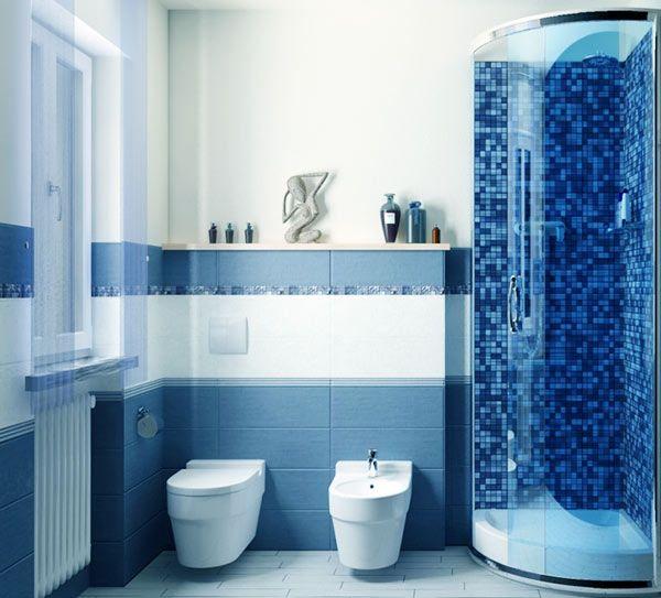Синяя ванная комната фото. Ванная комната в сине-голубых тонах
