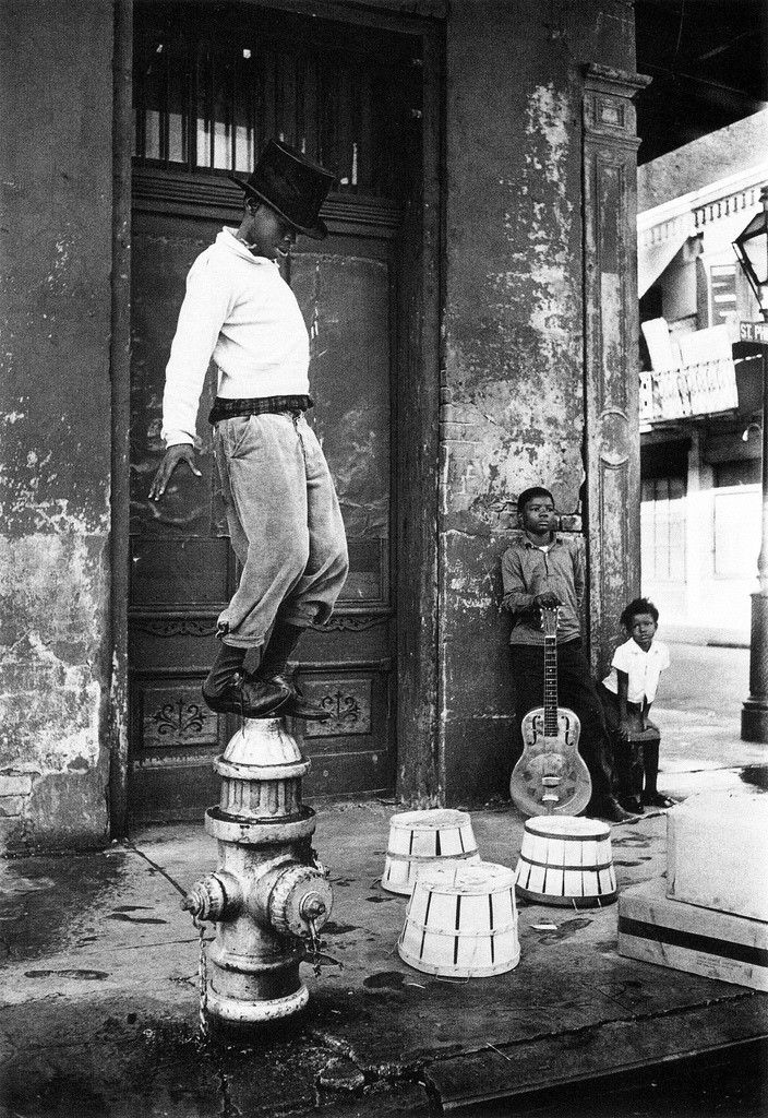 New Orleans 1950's. I'm eying up that guitar there. Looks like an old National