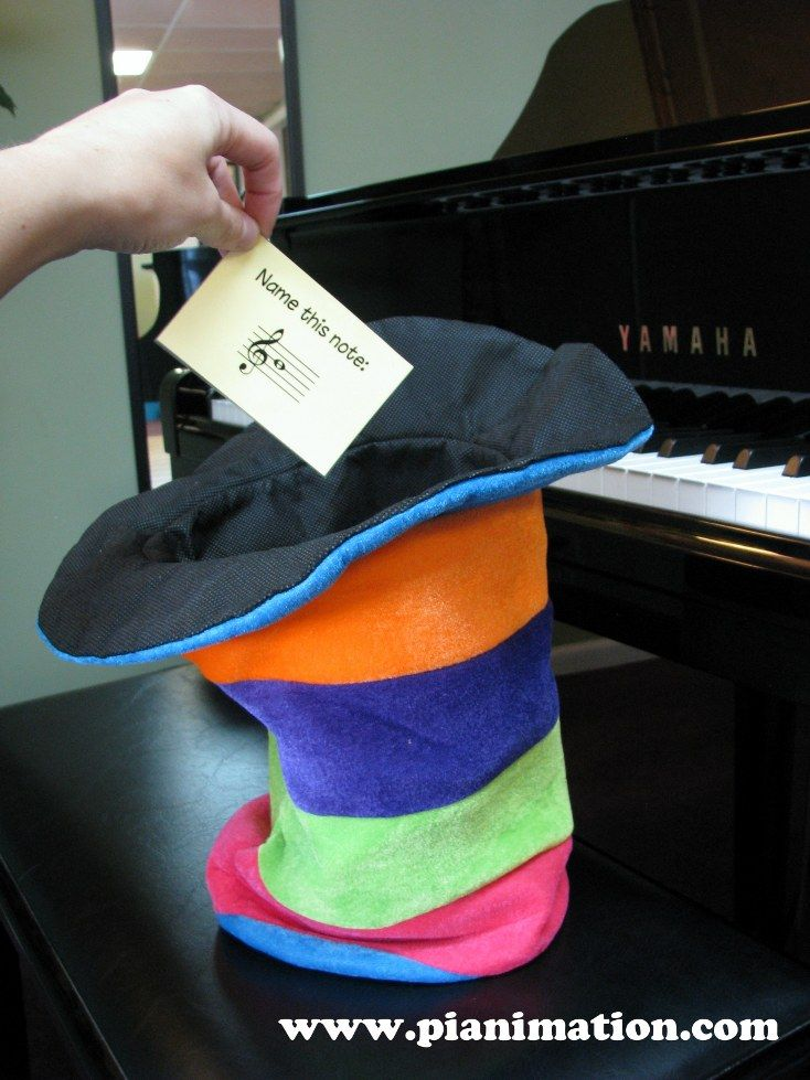 Truth or Dare piano style. For group lessons. Two hats allow for two levels to play together at once.