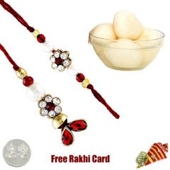 Send Lumba Pair with Delicious Rasgulla to UK from sendrakhi.com