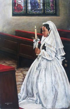 First Communion in Latin America To purchase a reproduction, go to: http://fineartamerica.com/featured/first-communion-in-central-america-sylvia-castellanos.html