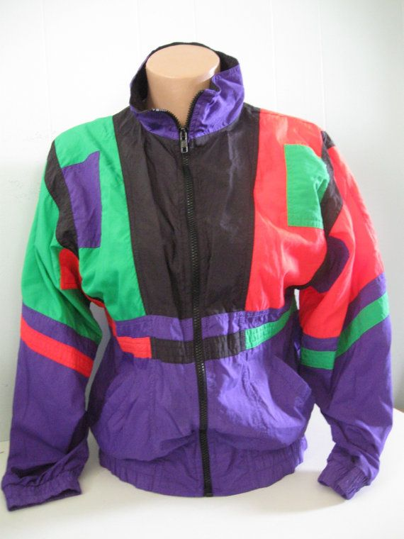 Neon Windbreakers, A major trend in the 80's with the ... - photo #35