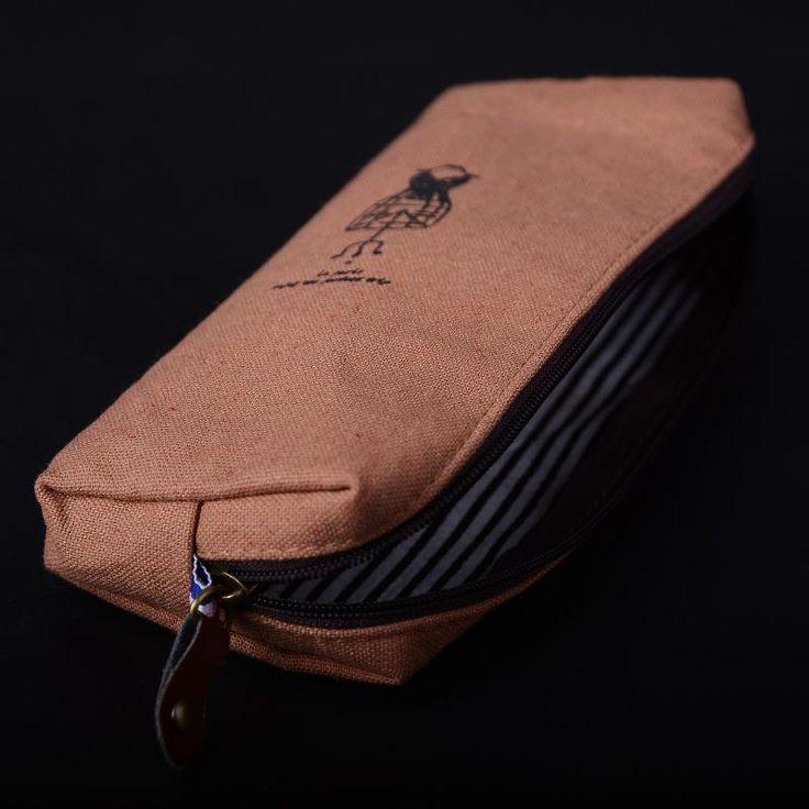 Hot-Korean-Canvas-Pencil-Pen-Case-Cosmetic-Makeup-Coin-Pouch-Zipper-Bag-Purse