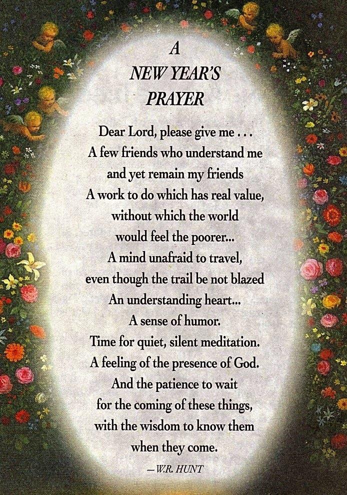 New Year\'s Prayer | Verses of prayer and love,peace,hop! | Pinterest ...