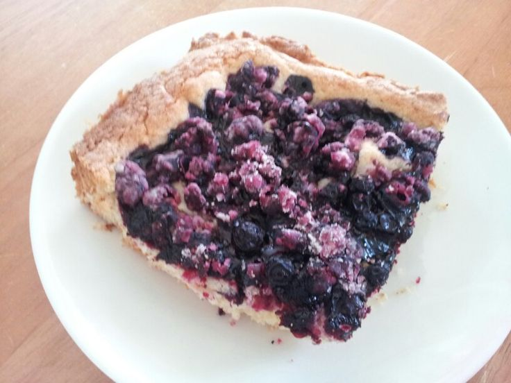 Blueberry pie. Served with Vanilla ice cream.