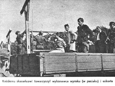 Female Guards in Nazi Concentration Camps. SS-Guard Jenny Barkmann and her executioner (in striped  KZ uniform)