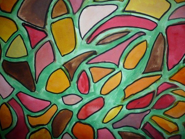 Téma: Podzimní vitráž