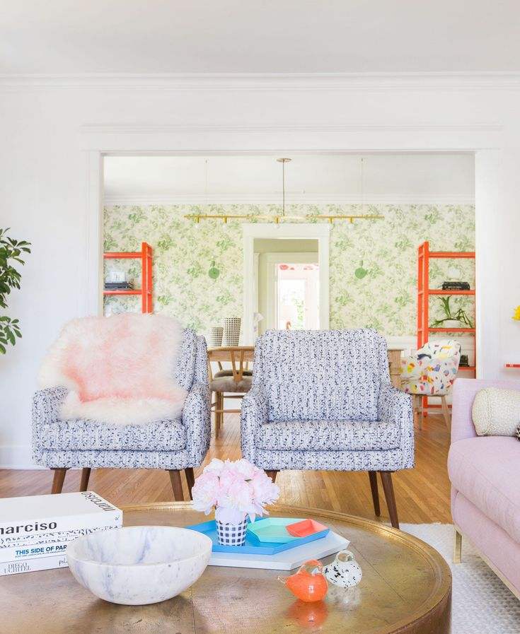 Inside the Colorful Design-Savvy Pad of Lauren Morelli and Samira Wiley via Brit + Co