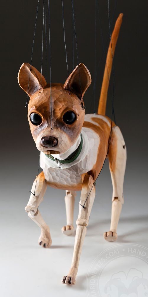 Chihuahua Czech Marionette Puppet by CzechMarionettes on Etsy