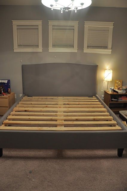 DIY bedframe tutorial.  I am sold on making my own headboard but never thought about a whole bedframe... I think I may have to try it!
