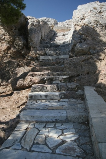 Areopagus (Mars Hill) in Athens...reminds me of the stairs on the way back from the horafia in Potamia!