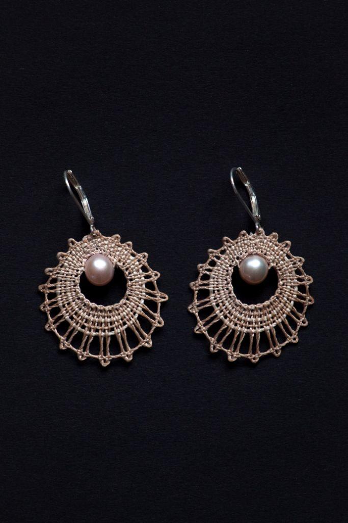 Náušnice Sweet pearl | Vamberecká krajka