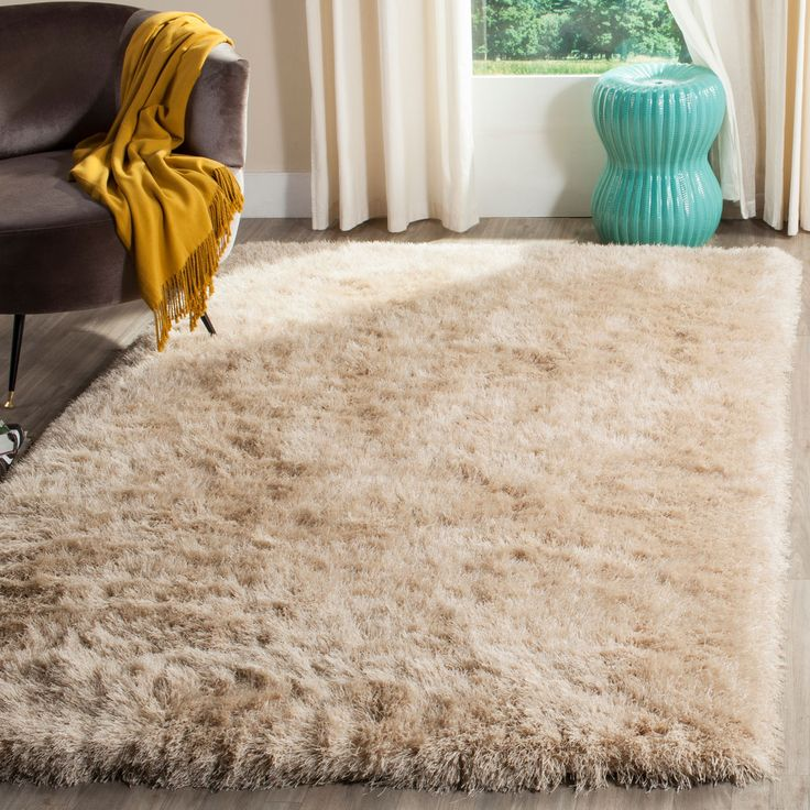 Thick Pile Champagne Shag Rug 199 best