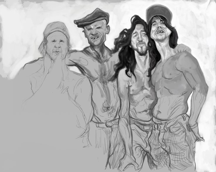 the art blog of cosmin podar: Red Hot Chili Peppers band project