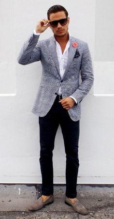 grey blazer men - Google Search