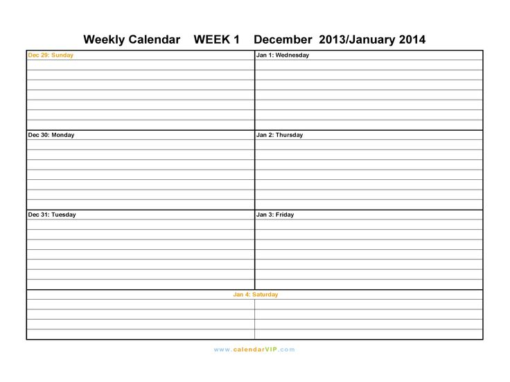 Daily Week Calendar unique daily week calendar 2012 printable n in design ideas