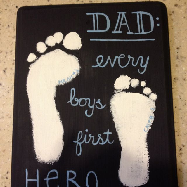 "Homemade Father's Day gift. just change it to ""every girls first love"" <3"