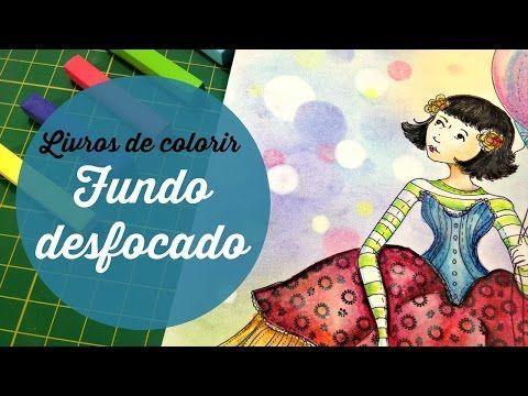 Fundo desfocado - Livros de colorir - YouTube