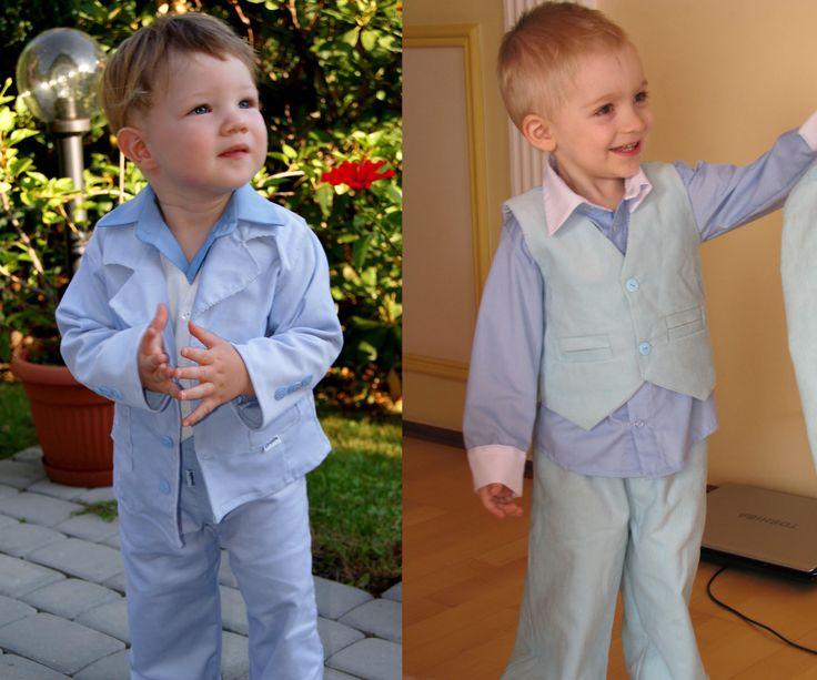 Garnitur jasno-niebieskie dla chłopca