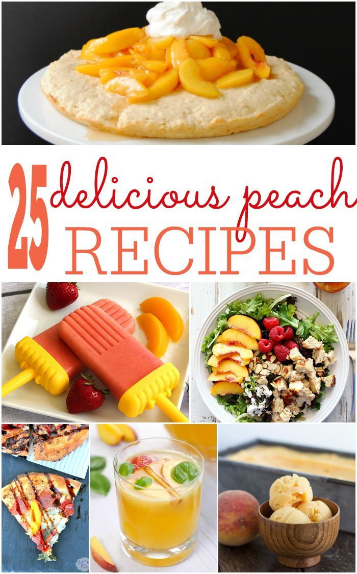 Love peaches? If so you're going to love all of these different peach recipes. So yummy!