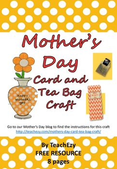 Mother's Day Card and Tea Bag Craft