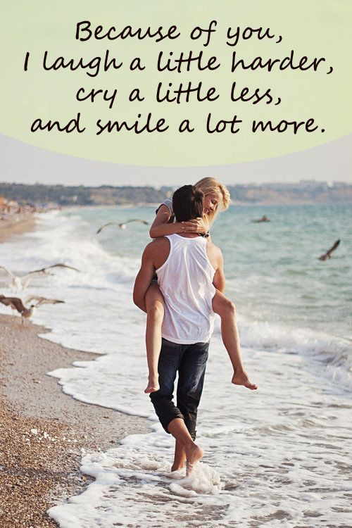 Because Of You I Laugh A Little Harder Cry A Little Less Quote Ecosia