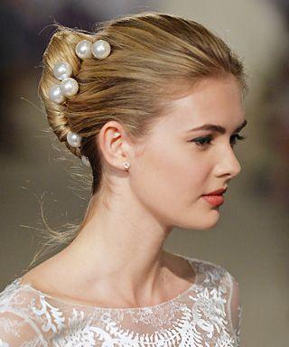 Carolina Herrera - Bridal Fashion Week 2015: The Prettiest Wedding Updos - Makeup - InStyle.com