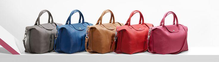 en.longchamp.com/... Le Pliage Cuir bags