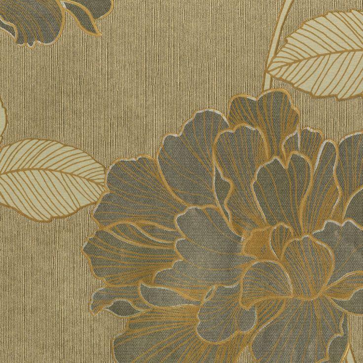 Muriva P/Silk Trail Wallpaper Gold at homedeco