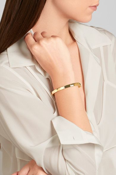 Ippolita - Senso Hammered 18-karat Gold Diamond Bracelet - one size