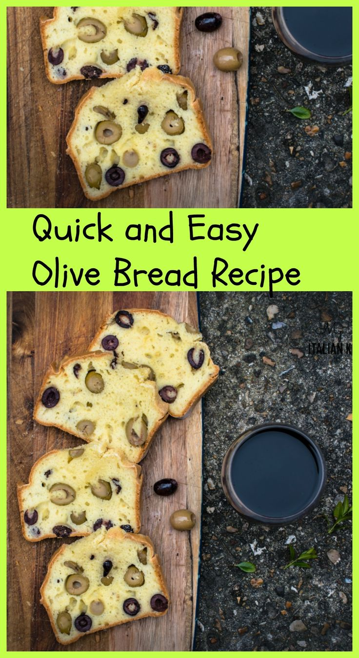 Quick and easy olive bread recipe with yogurt.