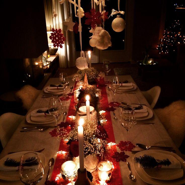 Kerstdiner kerst tafel decoratie inspiratie