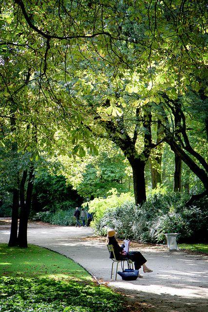une allée du Jardin du Luxembourg à Paris