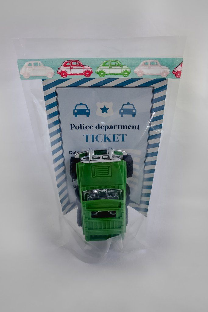 Car Party Favor I Police Ready Party Bag http://mypartypuzzle.com