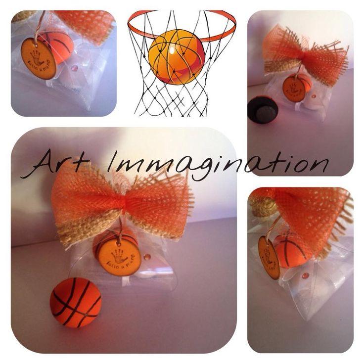 gessetto bomboniera calamita pallone da basket