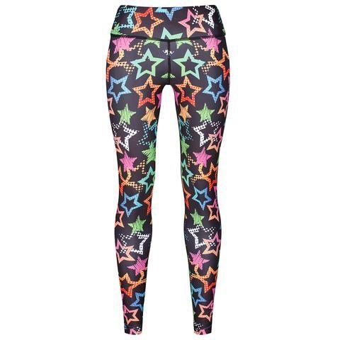 Starry Night Leggings #Activewear #Gymwear #FitnessLeggings #Leggings #Tikiboo #SpacePrint #Running #Yoga #Galaxy #GalaxyPrint