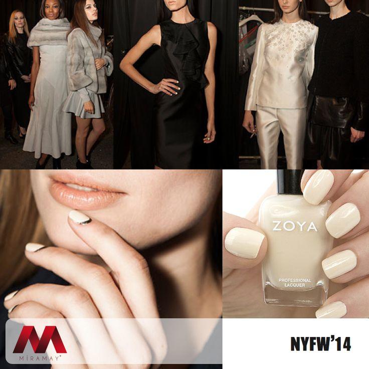 Sonbahar-Kış kreasyonunu NFWF 2014'de sunan ünlü modacı Rolando Santana birbirinden iddialı tasarımlarını modadan ilham alan Zoya ojeler ile bütünledi.