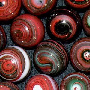 wow, those are the prettiest marbles