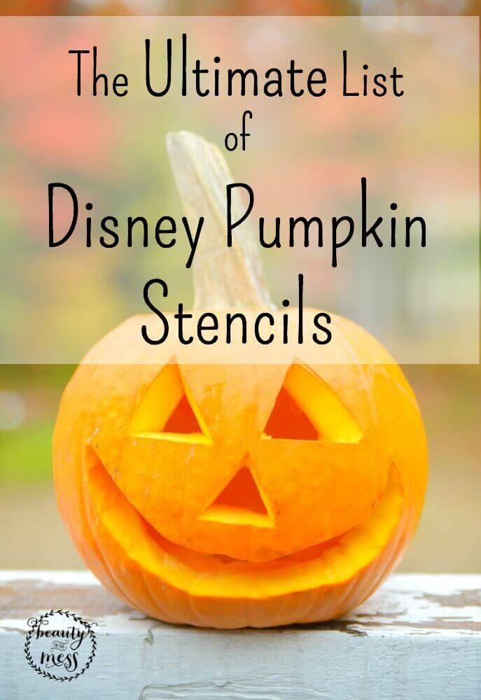 The Ultimate List of Disney Pumpkin Stencils via @wdcornelison