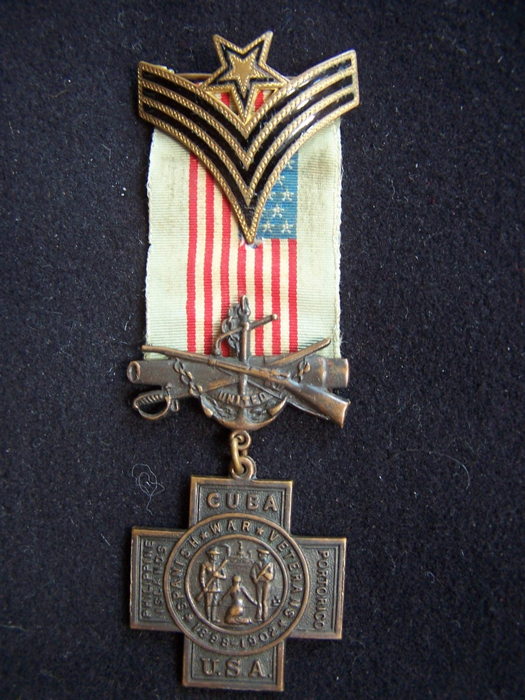 Spanish American War NCO Master Sgt. Medal Badge