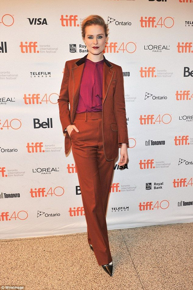 Not ashamed: Evan Rachel Wood, pictured last year, tweeted her open letter to Rolling Stone about her sexual assault