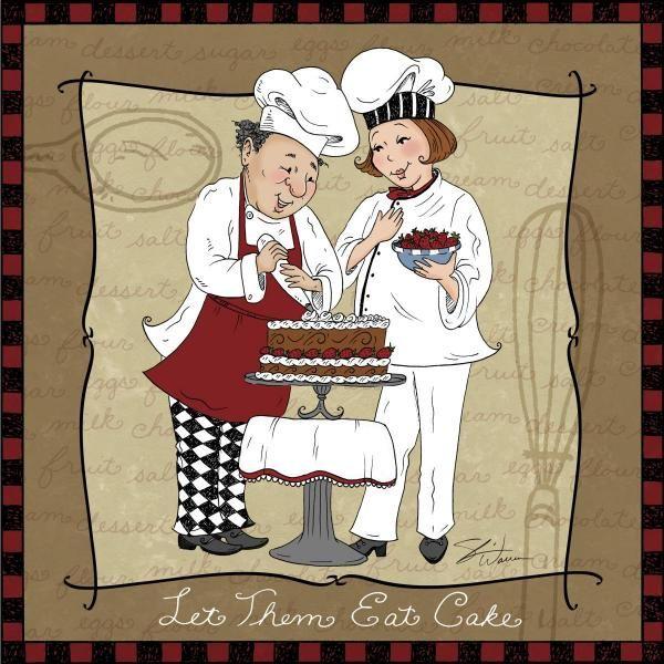 Frameless Modern Cartoon Chefs Canvas Prints Restaurant: 954 Best Images About DIBUJOS COCINEROS Y COCINA On