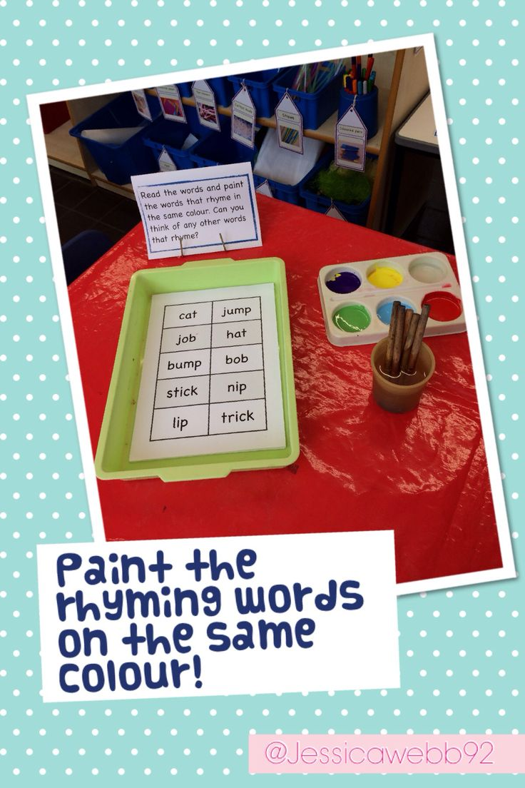 Rhyme and Paint! Early Years Literacy Pinterest