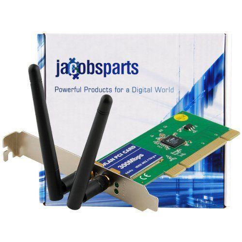JacobsParts 802.11N Wireless LAN PCI Network Adapter Card 300Mbps - Ralink RT3062F Chipset by JACOBSPARTS. $8.31. Upgrade your PC with fast and flexible wireless connectivity with this wireless network PCI card adapter. This wireless network PCI card operates on the 2.4 GHz frequency band and provides a data rate of up to 300Mbps. It is based on Wireless-N technology- the fastest standard on the market. The dual external dipole antennas enhance data throughput w...