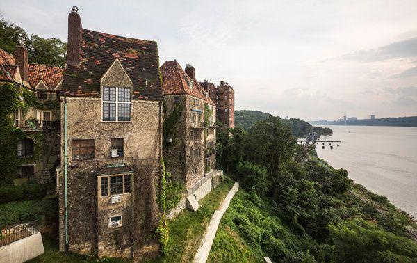 The Villa Charlotte Bronte in Spuyten Duyvil,  overlooks the Hudson River, the Bronx, New York CIty.