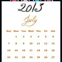 Free Printable Fairy Princesses July 2013 Calendar. How cute is this?! Repin and share.
