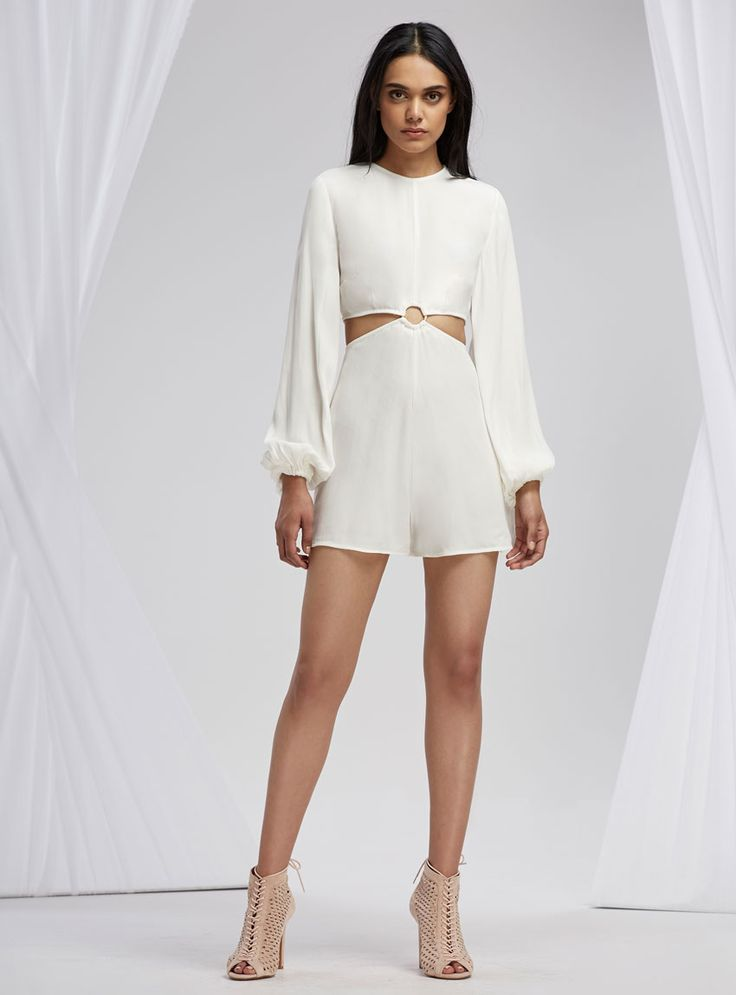 Finders Keepers Emmerson Playsuit – Cloud