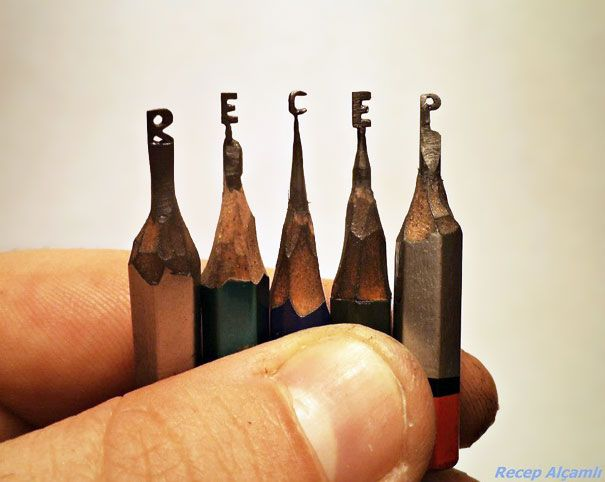 Best Pencil Sculptures Images On Pinterest Pencil Carving - 8 astonishing tiny sculptures carved on the tips of pencils